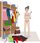 Clothes choice — Stock Vector