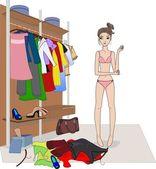 Clothes choice — Stock Vector
