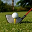 Teeing off — Stock Photo