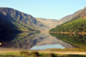 The upper lake in glendalough county wicklow ireland — Stock Photo