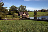 Boat house on a Golf Course in County Kildare Ireland — Stock Photo