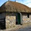 Small thatched cottage — Stock Photo