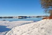 Blessington lakes in wintertime — Stock Photo
