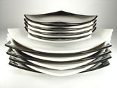 摞盘子 — 图库照片
