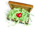 Heart in box — Stock Photo
