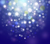 Blue Festive Christmas elegant abstract background with bokeh lights and stars — Stock Photo