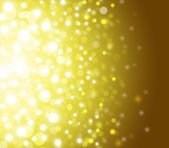 Gold Festive Christmas elegant abstract background with bokeh lights and stars — Stock Photo