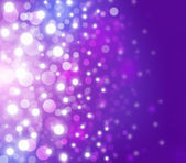 Purple Festive Christmas elegant abstract background with bokeh lights and stars — Stockfoto