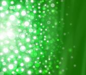 Fête noël élégant abstrait fond vert avec des lumières de bokeh et étoiles — Photo