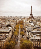 Paris skyline with Eiffel Tower — Stock Photo