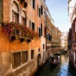 Venice Small Canal, Italy — Stock Photo