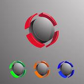 3D Logo3 — Stock Vector