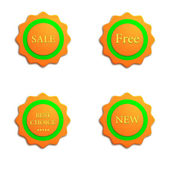 Stickers — Stock Vector