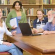 Professor with students — Stock Photo