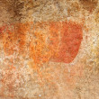 Fragment of bushman painting — Stock Photo