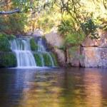 Little waterfall on mountain river — Stock Photo #21120737