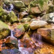 Stock Photo: Little mountain river waterfall