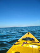 Open sea kayak — Stock Photo