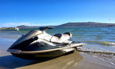 Jet ski on beach — Stock Photo