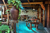 Interior of African country coffee shop — Stock Photo