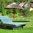 Stock Photo: Green lounger on lawn