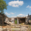 Backyard of demolished house — Stock Photo
