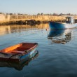Two old boats in port - morning light — Stock Photo