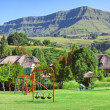 Stock Photo: Children playground on estate in mountains