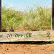 'Back to office' sign board - closeup - Stock Photo