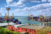 Panoramic view at the Odessa cargo port — Stock Photo