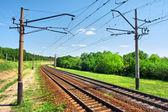 Railway on summer day — Stock Photo