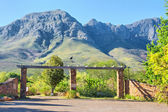 Entrance into the Helderberg Mountains Nature Reserve — Stock Photo