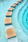 Curly pool in hot springs spa — Stock Photo
