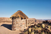 Traditional house in desert — Stock Photo