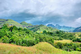 Mountains before thunderstorm — Stock Photo