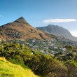 Panoramic view at Lion Peak and beach — Stock Photo