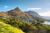 Panoramic view at Lion Peak and beach — Stockfoto