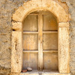 Window of old house in traditional Sicilian town — Stock Photo