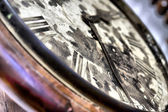 Arrows of old vintage clocks — Stock Photo
