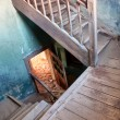 Stairway in the abandoned house — Stock Photo