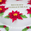 Fragment of Merry Christmas cake — Stock Photo