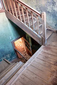 Stairway in the abandoned house — Foto de Stock