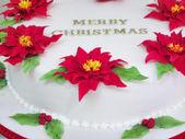 Fragment of Merry Christmas cake — Stock Photo