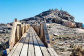 Wooden bridge to viewpoint — Stock Photo