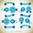 Discount Label Banner Background Collection - Stock Vector