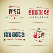 Made in usa-collectie — Stockvector
