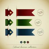 Colección de colores de la bandera — Vector de stock