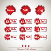 Discount Label Banner Background Collection — Stock Vector