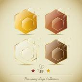Honey Branding Logo Collection — Stock Vector