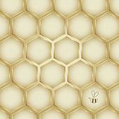 Honey Background Collection — Stock Vector